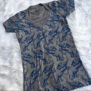 Matix Elephant Print V-Neck S/S T-Shirt